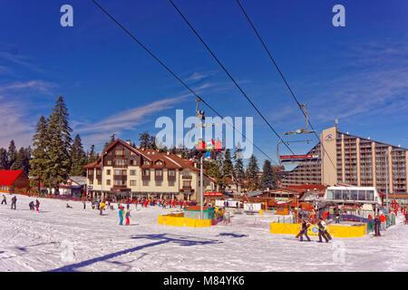 Hotel Ice Angels and Rila Hotel at Borovets Ski resort, Targovishte, Bulgaria. - Stock Photo