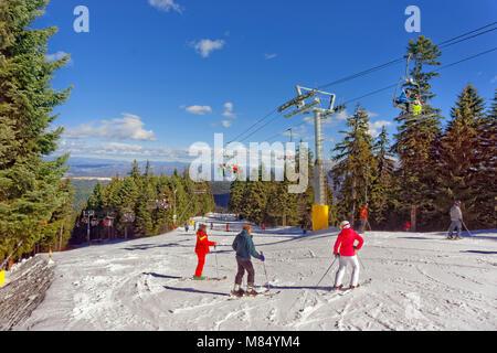 Martinovi Baraki 1 ski slope at Borovets ski resort, Targovishte, Bulgaria. - Stock Photo