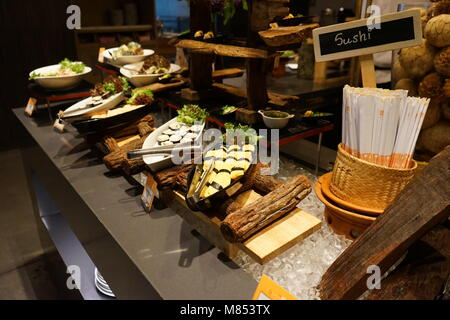Beautiful serving buffet table. Catering in restourant - Stock Photo