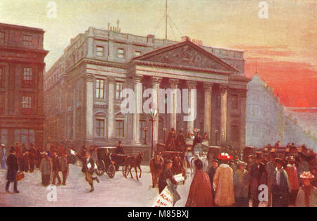 Mansion House, London, England, circa 1905, official residence of the Lord Mayor of London - Stock Photo