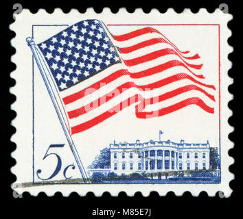 UNITED STATES OF AMERICA - CIRCA 1962: A used postage stamp from the USA depicting an illustration of the American - Stock Photo