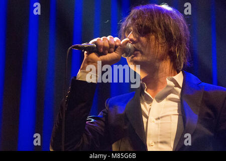 Norway, Oslo - March 13, 2018. The English singer, songwriter and musician Pete Doherty performs a live concert - Stock Photo