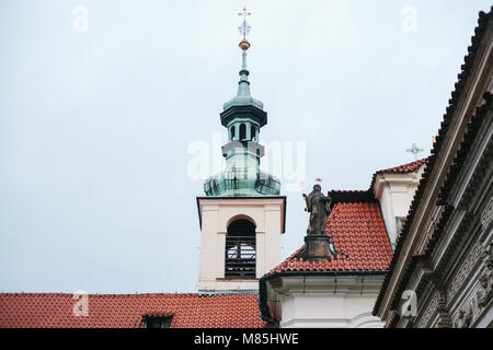 Catholic church of the Nativity of the Lord. Prague Loreta - a complex of historical buildings in Prague on the - Stock Photo