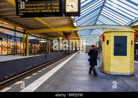Onkel Toms Hütte U-bahn underground railway station, - Stock Photo