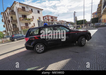 Corigliano Calabro, a vast operation of the carabinieri of the provincial command of Cosenza, led to the arrest - Stock Photo