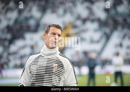 Turin, Italy. 14th March, 2018. during the Serie A Mathc Juventus FC vs Atalanta. Juventus won 2-0 at Allianz Stadium, - Stock Photo