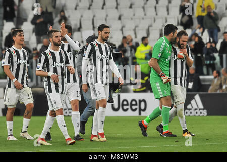 Turin, Italy. 14th March, 2018. during the Serie A football match between Juventus FC and Atalanta BC at Allianz - Stock Photo