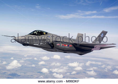 Lockheed Martin F-35 Joint Strike Fighter Lightning II. Lockheed Martin F-35 Joint Strike Fighter Lightning II test - Stock Photo