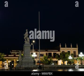 Holguin, Cuba - August 31, 2017: Monument of General Calixto Garcia in the city's main square, Parque Calixto Garcia. - Stock Photo