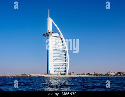 Burj Al Arab Luxury Hotel, Dubai, United Arab Emirates - Stock Photo