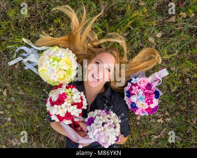 One pretty teenager girl only exquisite appearance MR gorgeous stunning photogenic appealing - Stock Photo