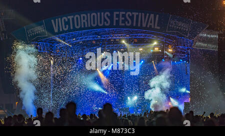 Manic Street Preachers Headlining Saturday Night on the Main Stage at Victorious Festival 2016; Southsea, Hampshire - Stock Photo