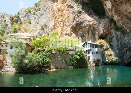 Blagaj, Bosnia and Herzegovina. Dervish house - Stock Photo