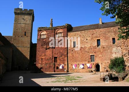 The Castelnau-Bretenoux castle in Prudhomat (France). - Stock Photo