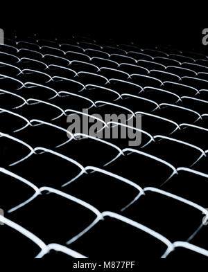 Black background with fence mesh. Abstract background - Stock Photo