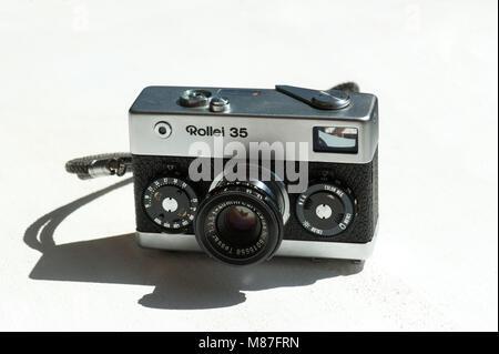 Rollei 35, vintage camera - Stock Photo