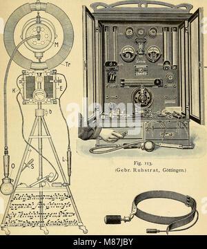 Die Elektrizität in der Medizin und Biologie - eine zusammenfassende Darstellung für Mediziner, Naturforscher und - Stock Photo
