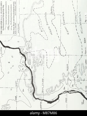 Early Pennsylvanian paleotopography and depositional environments, Rock Island County, Illinois (1985) (21130490461) - Stock Photo