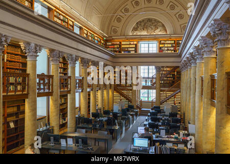 interior National library of Finland, Helsinki, Finland - Stock Photo