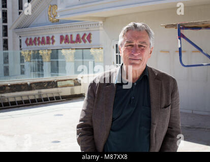 LAS VEGAS, NV - October 18: Robert De Niro announces Nobu Hotel Villa at Caesars Palace on October 18, 2013 in Las - Stock Photo