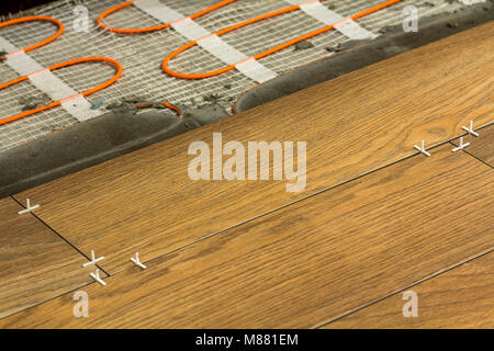 Underfloor Heating Elements Under Tiles Stock Photo 15774070 Alamy