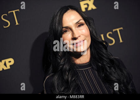 Famke Janssen attending the FX Networks' 'Trust' New York Screening at Florence Gould Hall on March 14, 2018 in - Stock Photo