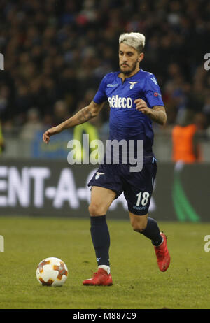 Lazio Luis Alberto in action during the Europa League round 16 second leg football match between FC Dynamo Kyiv - Stock Photo