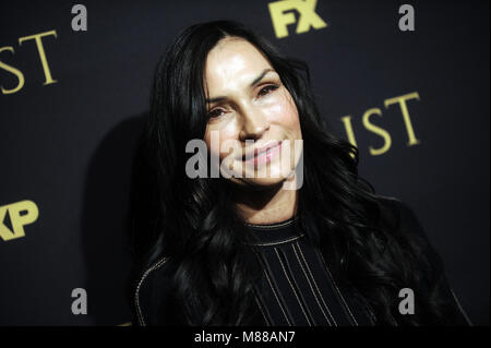 NEW YORK, NY - MARCH 14 :Famke Janssen attends the FX Networks' 'Trust' New York Screening at Florence Gould Hall - Stock Photo