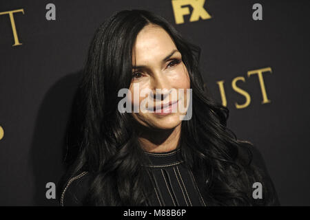 New York City. 14th Mar, 2018. Famke Janssen attending the FX Networks' 'Trust' New York Screening at Florence Gould - Stock Photo