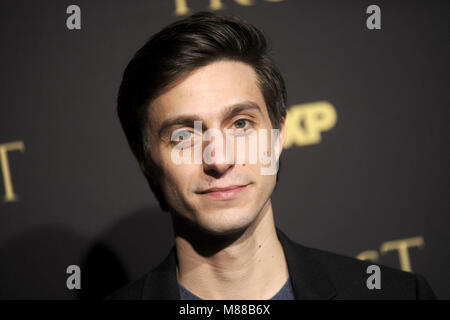 New York City. 14th Mar, 2018. Gideon Glick attending the FX Networks' 'Trust' New York Screening at Florence Gould - Stock Photo