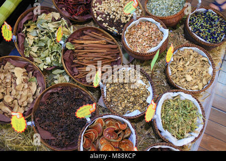 Thailand; Chiang Mai, herbs and spices, shop, - Stock Photo