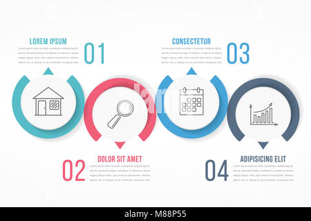 Process diagram template with circles flowchart or workflow with process diagram template with circles flowchart or workflow with four elements steps or options flashek Image collections