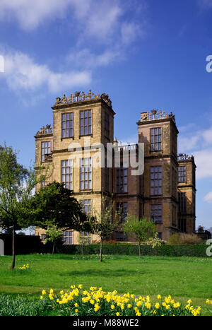 Hardwick Hall near Chesterfield, Derbyshire, England,UK. - Stock Photo
