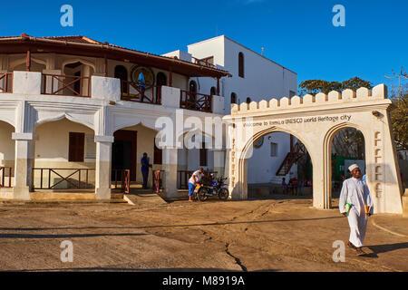 Kenya, Lamu island, Lamu town, Unesco world heritage - Stock Photo