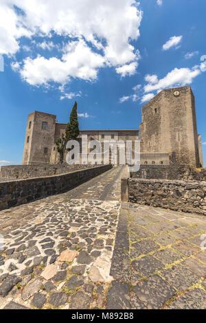 Norman Castle of Melfi village, Potenza district, Basilicata, Italy - Stock Photo