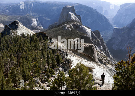 CA02869-00...CALIFORNIA - View of Half Dome and Yosemite Valley from Clouds Rest in Yosemite National Park. - Stock Photo