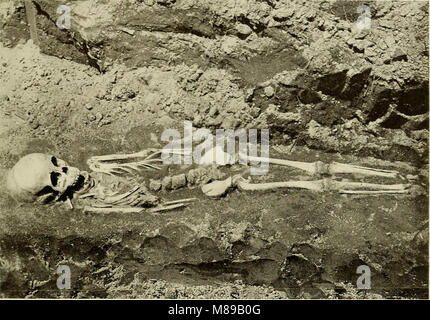 Exploration of a Munsee cemetery near Montague, New Jersey (1915) (14775054904) Stock Photo