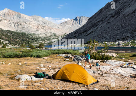 CA03312-00...CALIFORNIA - Campsite at Palisade Lakes in Kings Canyon National Park along the John Muir Trail. - Stock Photo
