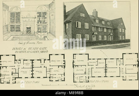 Garden city houses and domestic interior details (1913) (14592511247) - Stock Photo