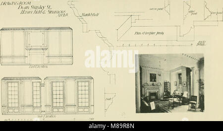 Garden city houses and domestic interior details (1913) (14776161961) - Stock Photo