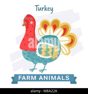 Turkey isolated vector - Stock Photo