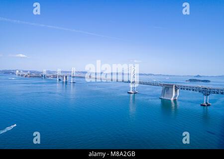 Great Seto Bridge view from Shami Nakanda beach, Sakaide City Kagawa, Prefecture, Japan. - Stock Photo