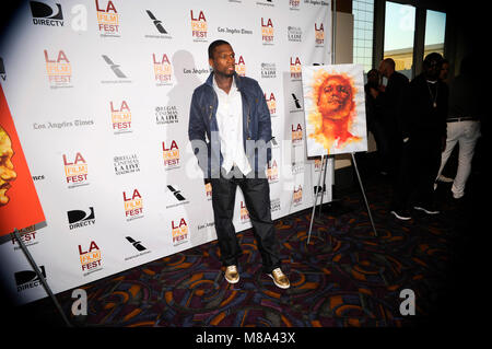 (L-R) Executive producer Curtis '50 Cent' Jackson attends the 'Tapia' premiere during the 2013 Los Angeles Film - Stock Photo