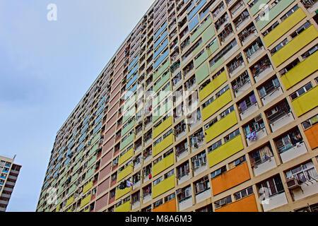 Choi Hung Estate in Hong Kong - Stock Photo