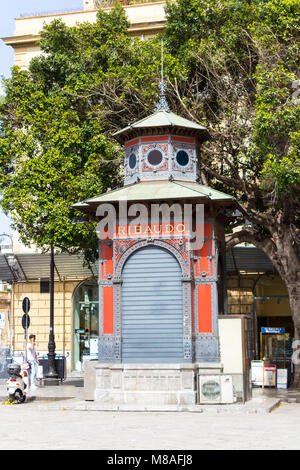 Old kiosk in Piazza Giuseppe Verdi. Palermo, Sicily. Italy - Stock Photo
