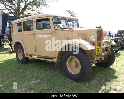 Vintage military Humber at Stradsett rally, Norfolk - Stock Photo