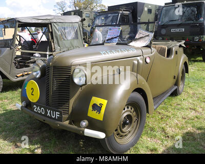 Vintage military staff car, Stradsett rally, Norfolk - Stock Photo