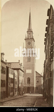 History of Paul Revere's signal lanterns, April 18, 1775, in the steeple of the North Church- with an account of - Stock Photo