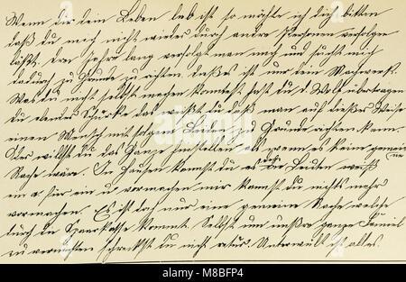 Die Schrift bei Geisteskrankheiten; eine Atlas mit 81 Handschriftproben (1903) (14591087699) - Stock Photo