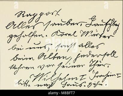 Die Schrift bei Geisteskrankheiten; eine Atlas mit 81 Handschriftproben (1903) (14775360364) - Stock Photo